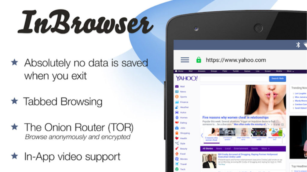InBrowser Privacy Web Browsers for Android