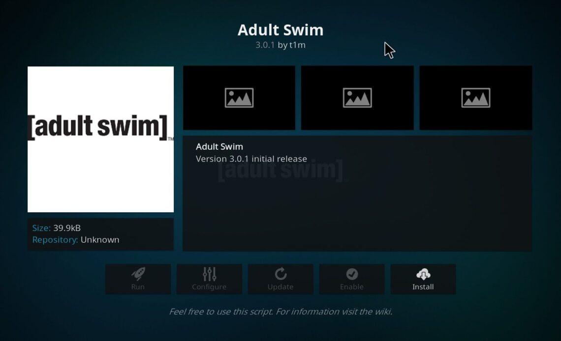 Install Adult Swim Kodi Addon
