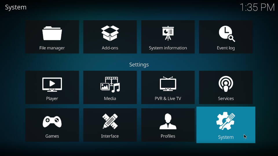 Enable unknown sources on Kodi - Step 2